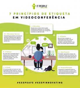7 princípios de etiqueta em videoconferência - Infografia - IT People Innovation