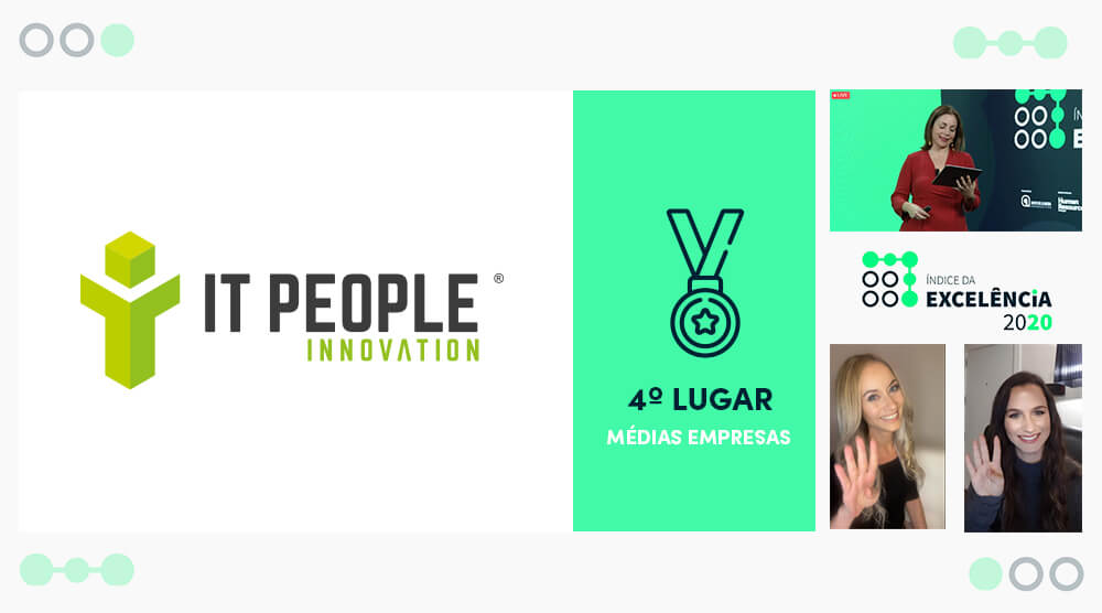 4o lugar - Índice da Excelência 2021 - IT People Innovation