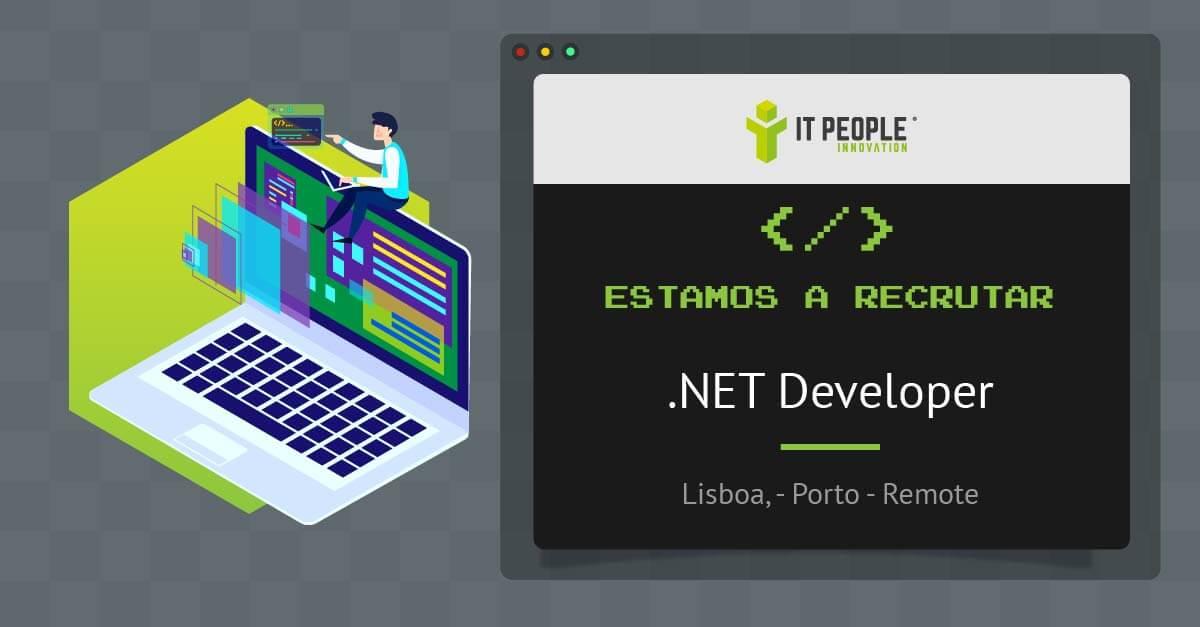 Estamos a recrutar .NET Developer PT